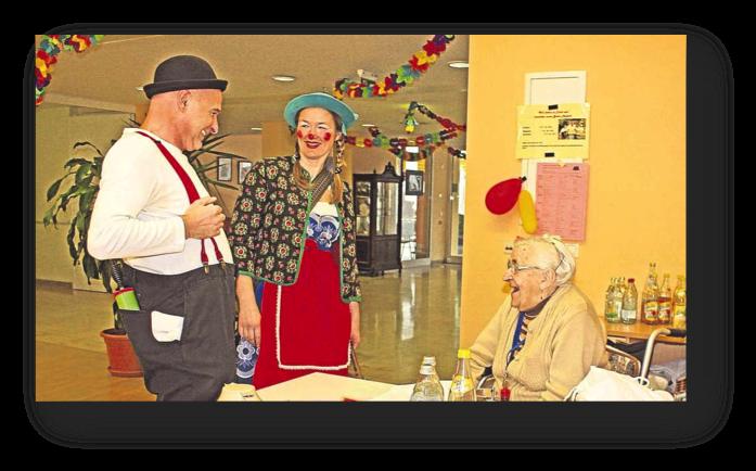 RC Schongau: Ein Lachen schenken mit Klinik-Clowns im Seniorenheim